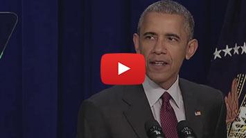 Americký prezident Barack Obama mluví o Lině Khalifeh